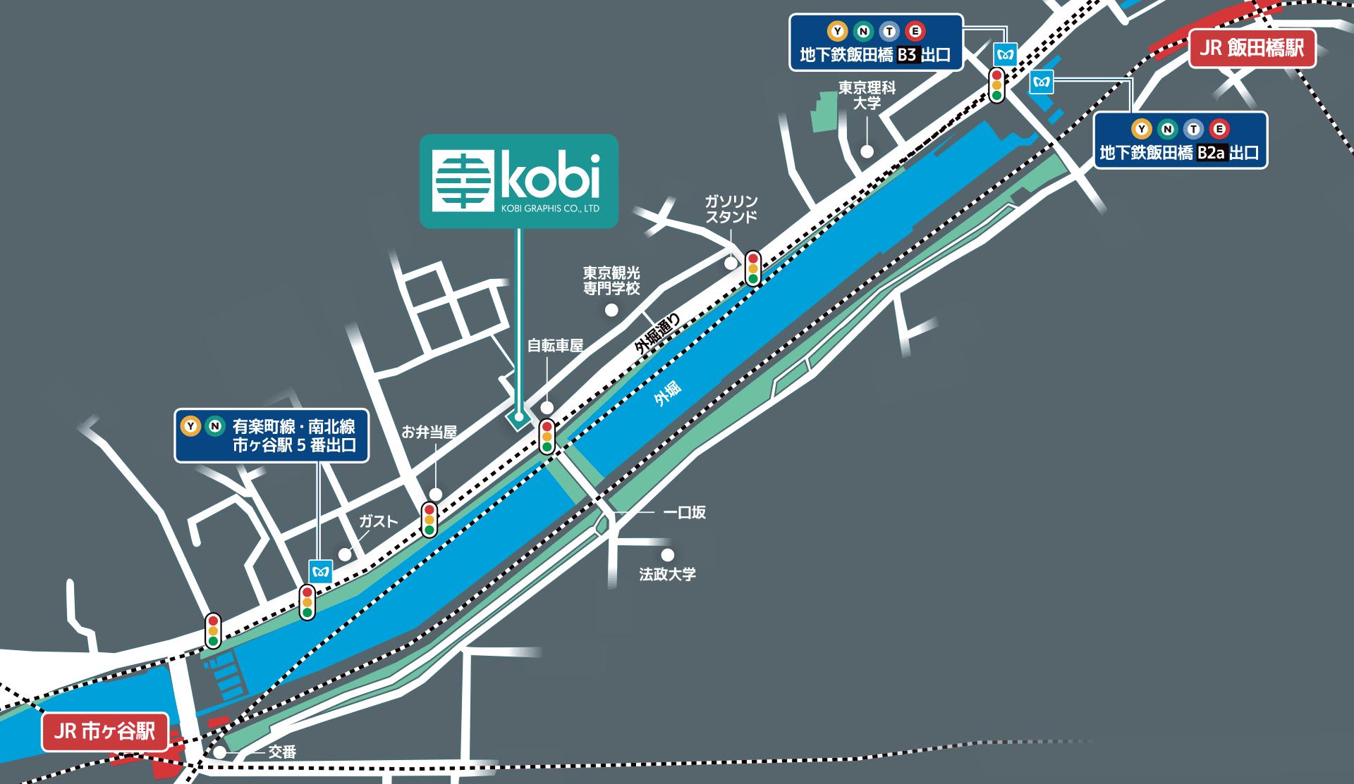 Kobi access map